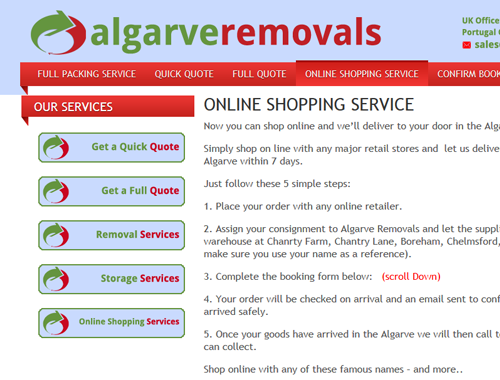 Algarve removals and Gardencentreshopping