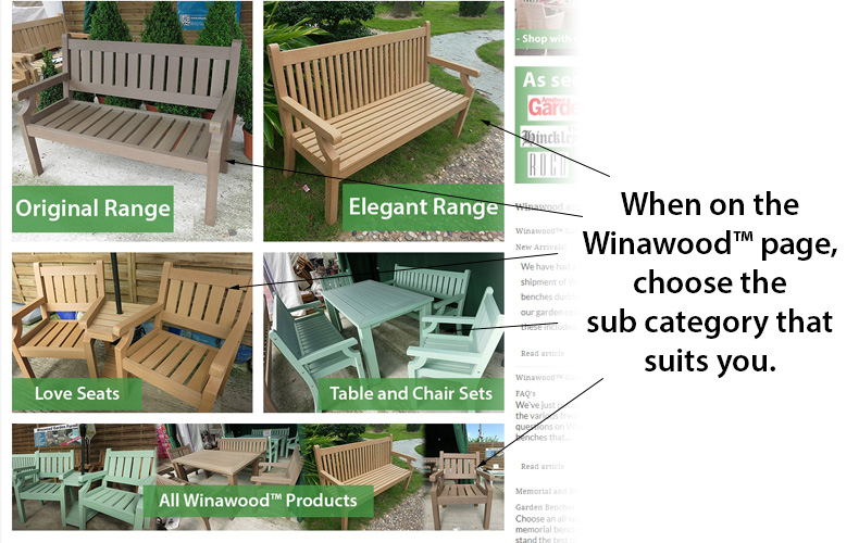 New Winawood Bench Categories