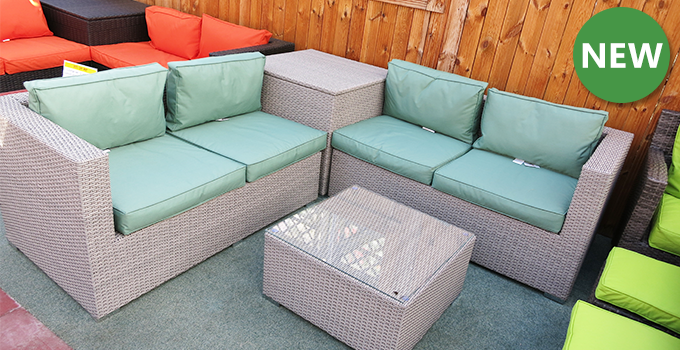 rattan corner sofa set new