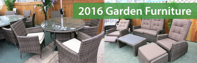 The garden furniture range for 2016 at Gardencentreshopping