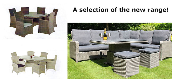 3 of our new garden furniture sets