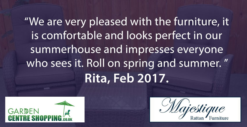 Rita describes how excited she is to try out her new reclining furniture in the spring
