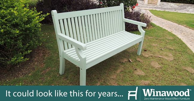 Our Garden Furniture Range For Summer 2017. WInawood Benches Could Look  Brand New For Many Years.