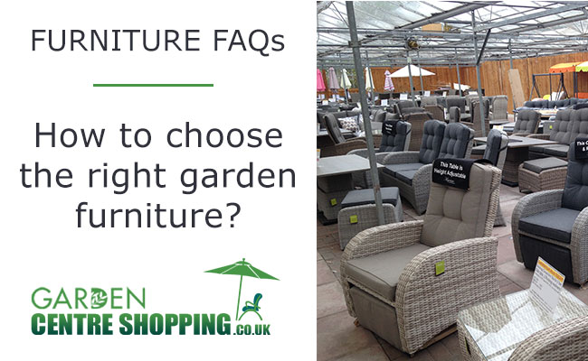 Garden Furniture Buyers Guide: How to choose your new set?