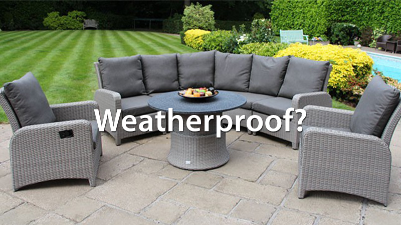 How to tell if rattan is weatherproof or not?