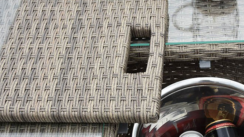 Using synthetic hand woven rattan that's UV stabilized is best