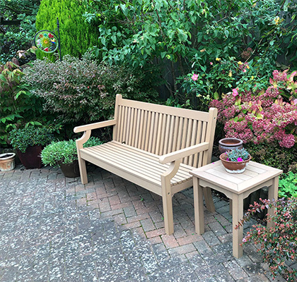 Winawood bench in garden
