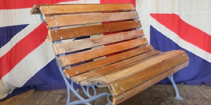 Reclaimed wooden furniture bench