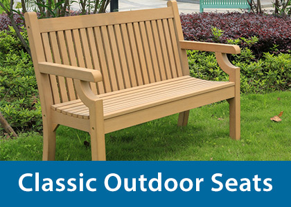 Classic outdoor seats
