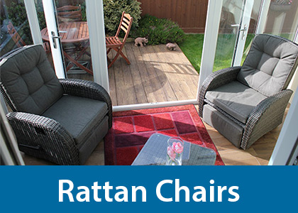 Porch patio rattan chairs