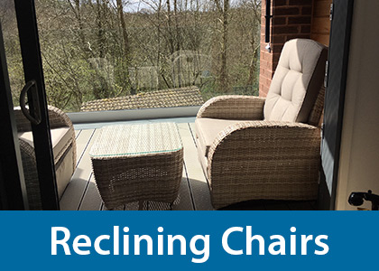 Reclining patio porch chairs