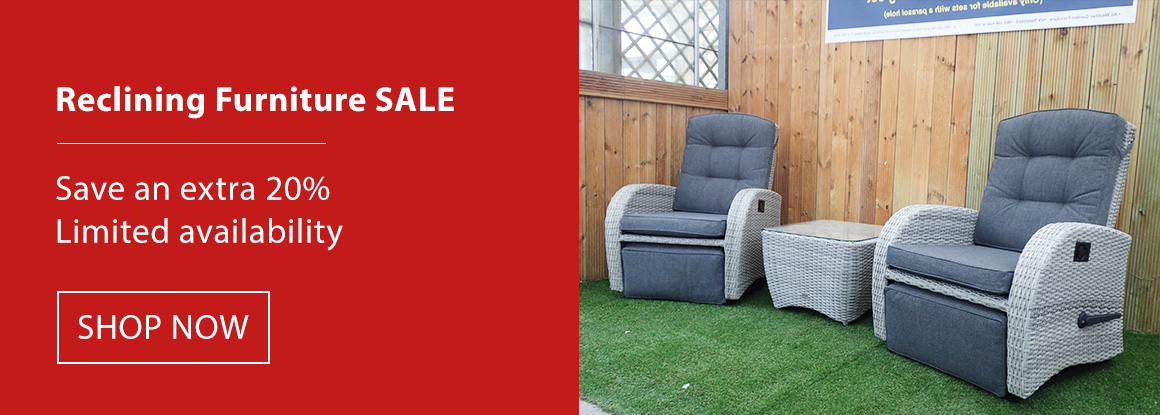 Reclining garden furniture sale