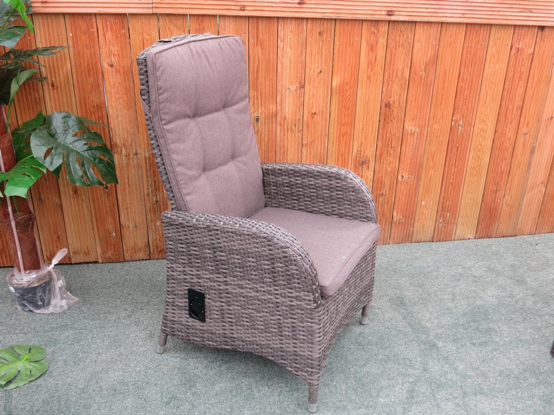 Reclining rattan outdoor dining set buy online from gardencentreshopping - Reclining dining room chairs ...
