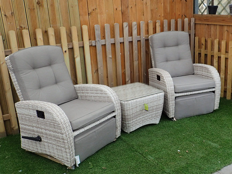 Rocking And Reclining Set In Latte Rattan New For 2017