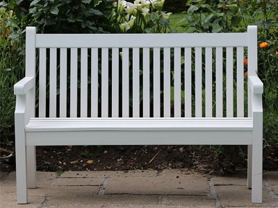 Winawood 2 Seater Sandwick Bench - White Finish