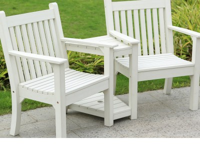Winawood™ Garden Love Seat - White Finish