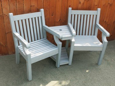winawood love seat blue finish - Garden Furniture Love Seat