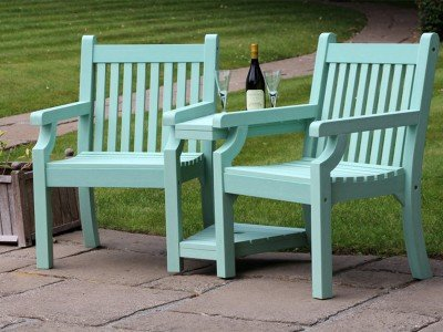 Winawood™ Garden Love Seat - Duck Egg Green Finish