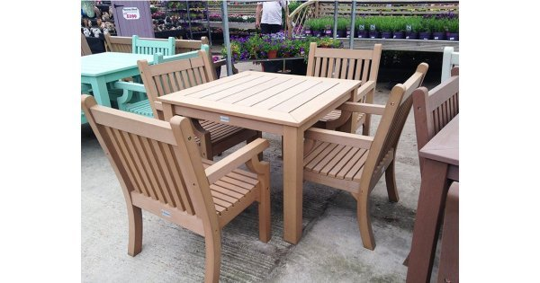 Winawood Benches Weatherproof Wood Effect Composite