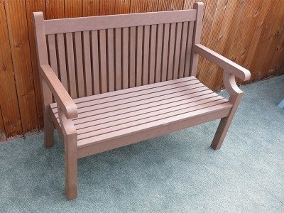 Winawood 2 Seater Sandwick  Bench - Brown Finish