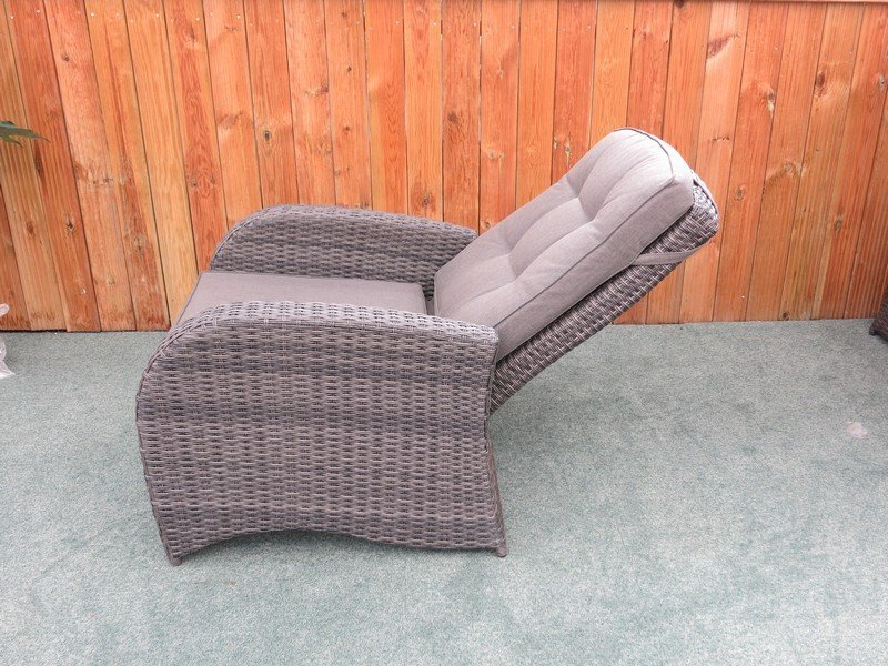 Reclining Rattan 4 Seater Sofa Set Grey Buy Garden