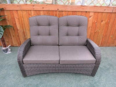Reclining Rattan Sofa - Single