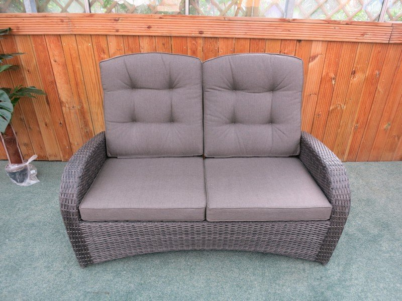 Reclining Rattan 4 Seater Sofa Set Grey Garden Centre Shopping Uk
