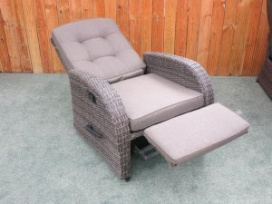 Rocking Reclining Rattan Chair - Single