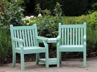 Winawood composite benches weatherproof heavy duty for Garden love seat uk