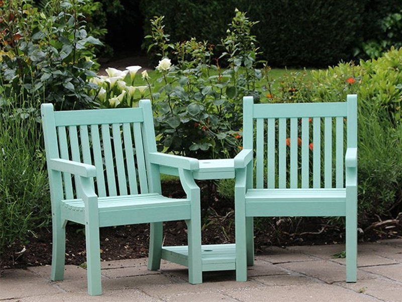 Winawood love seat wood effect composite loveseat for Garden love seat uk