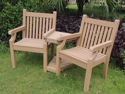 Winawood™ Garden Love Seat - Teak Finish