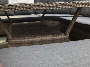 Volos Rattan 8 / 10 Seater Corner Sofa Set Mixed Grey