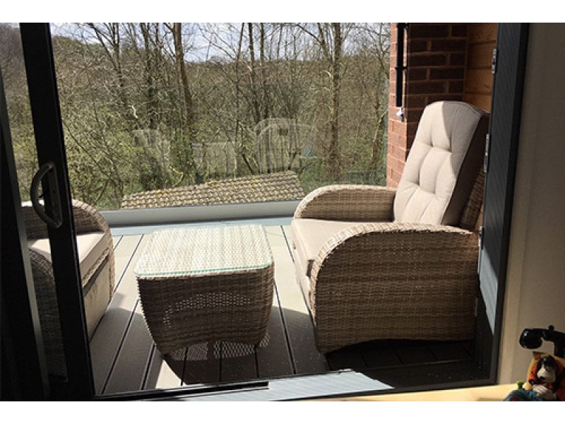 Bellevue 2 Seater Reclining Chair Rattan Garden Furniture