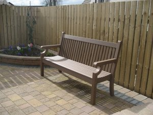 Winawood 3 Seater Sandwick Bench - Brown Finish
