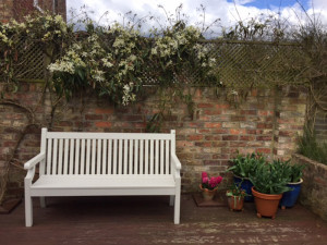 Winawood 3 Seater Sandwick Bench - White Finish