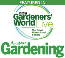 Featured in BBC gardeners world live and amateur gardening