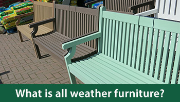 The type of outdoor furniture to leave outside