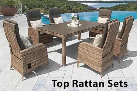 Top rattan garden furniture sets