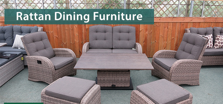 Choosing rattan dining furniture for your garden