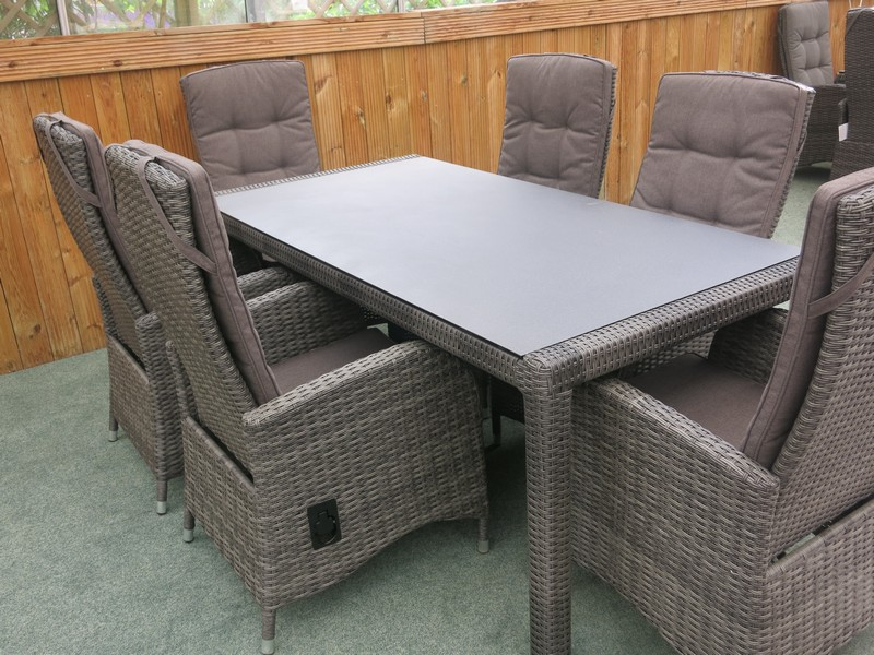reclining rattan outdoor dining set buy online from
