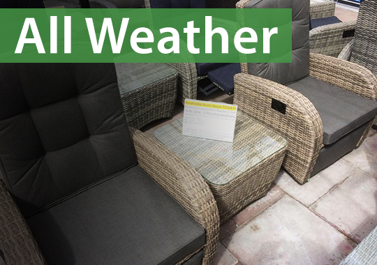 All weathers sets are more durable in your garden