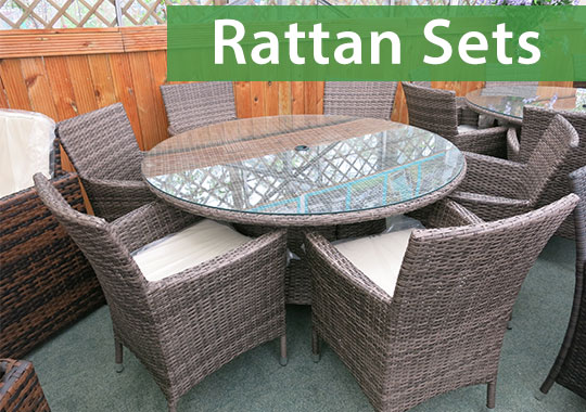 Rattan furniture sets are a modern and durable option for your garden