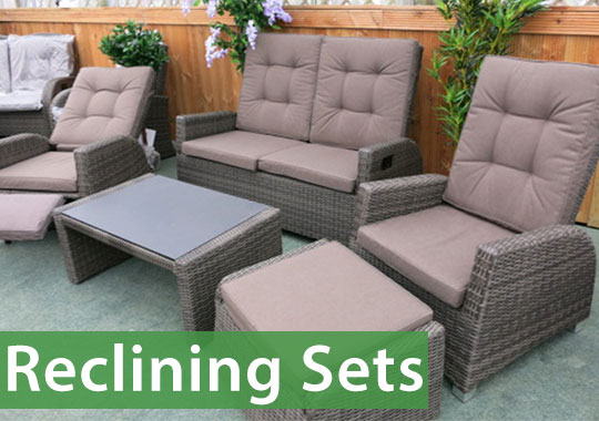 Reclining sets are great for a relaxing garden experience