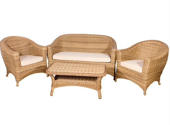 The correct material and size for your garden sofa set is important