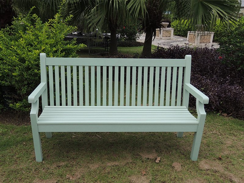 winawood three seater duck egg green benchjpg