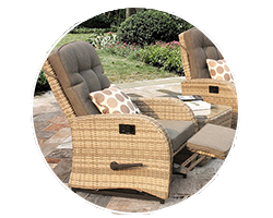 Relax on a brand new rattan recliner with the option of footstools in our reclining rattan range