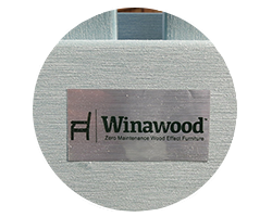 Winawood furniture is made from a composite of plastics and has a wood-effect grain like feel to it